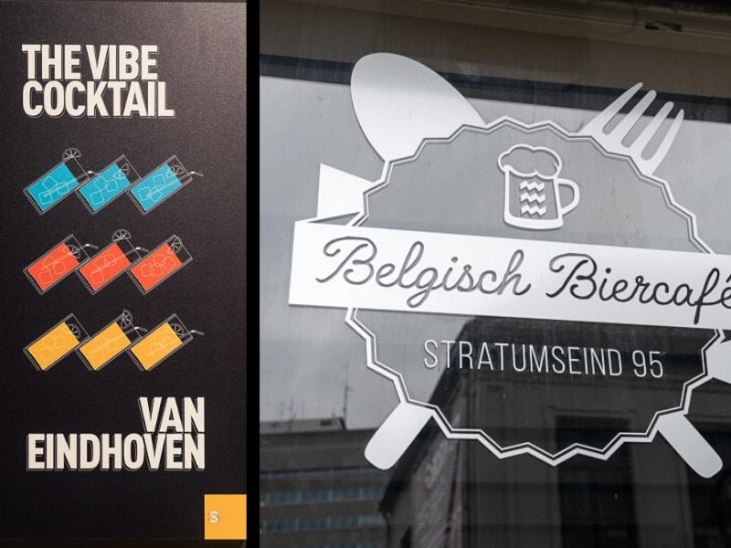 גאוות היחידה של איינדהובן - סמל העיר משולב בפרסומות וב-לוגואים של עסקים